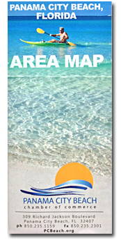 map of Panama City Beach FL
