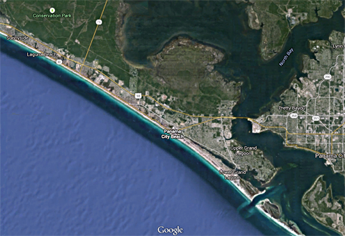 aerial images of Panama City Beach, Florida