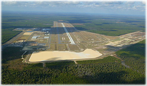 aerial photo of Northwest Florida Beaches International Airport