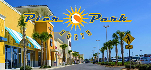 Photo of the stores at Pier Park North in Panama City Beach, Florida
