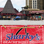 Where or how do I find Sharky's Beachfront Restaurant in Panama City Beach FL