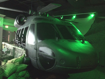 Black Hawk Helicopter Takes Siege at WonderWorks