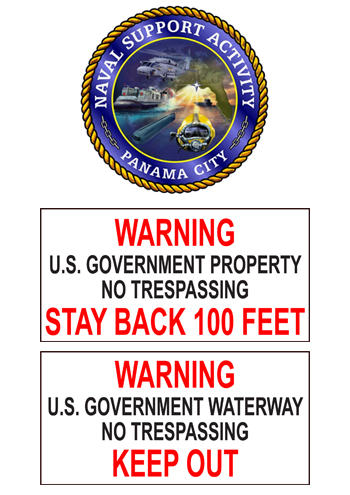NSA-Panama City New Signs Marking Shoreline Boundaries