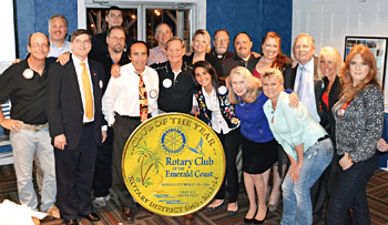 Rotary Club of the Emerald Coast Wins Club of the Year
