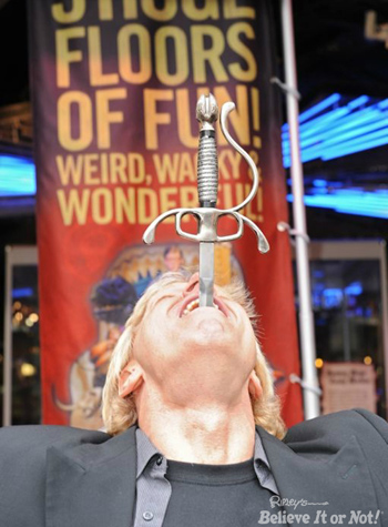 Ripley's PCB to Celebrate World Sword Swallower's Day