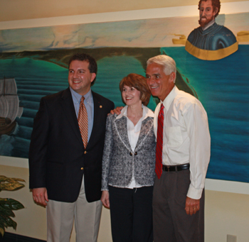 Governor Crist Visits the Panama City Beach Chamber