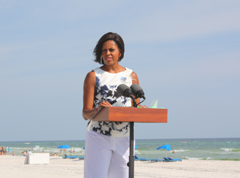 First Lady Michelle Obama Visits PCB