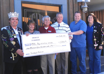 Check Presentations to Three Local Charities