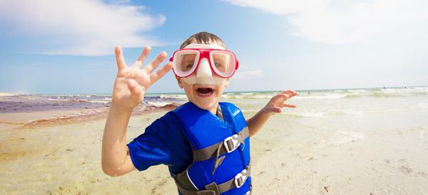 Kid Snorkeling Panama City Beach