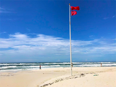 Beach Ordinance on Double Red Flags