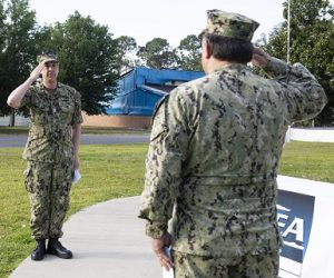 Back Relieves Peters as Commander of NSWC PCD